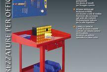 Line Warehouse / - Tool holder panel - Modular Platform - Carts and Benches