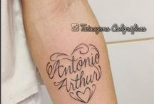 tatuagem nome de filho