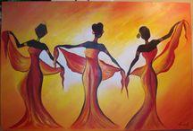 Akvarel Afrika / Akvarel