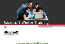 Microsoft Winter Training with International Certification / MTA India is one of the leading IT training provider in India. Microsoft Winter Training is one of the most favorite training program in this winter. The most important thing is students experience new technology and idea in this winter training program.