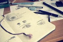 Illustration reference / Art. Pen. Moleskine. Design. #callygraphy