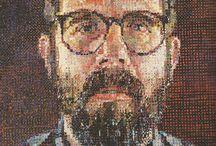 Y10 Text & Image - Chuck Close Grids