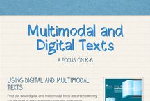 Multimodal and Digital Texts / These are two of the types of texts to which all students should be exposed in the new K-10 NSW English Syllabus for the Australian Currriculum.
