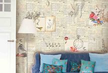 Wall treatment: incl. wall paper, art & stencils / by Fine Craft Guild