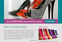 Email template designs / Designs and templates for email marketing campaigns / by Heather Clark