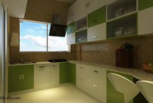 Dream Kitchen / What should your ideal dream kitchen be? We all hear terms like modular, L shape, U shape, Island.... here are some ideas which you can customize for your kitchen