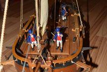 Dutch Gunboat / Rc model holandského dělového člunu z konce 18. století.