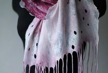 Nuno felt / Nunoplstenie - saly (scarfs) a ine