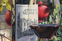 bor, szőlő