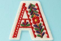 Alphabet embroidery
