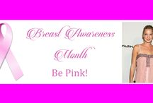 Be Pink! / October is Breast Cancer Awareness Month, which is an annual campaign to increase awareness of the disease.