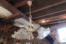 Brocante lampen / lampen voor binnen en buiten