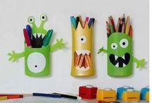 Hướng dẫn cách làm hộp đựng bút treo tường cực đáng yêu cho bé