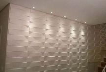 parede de gesso 3D