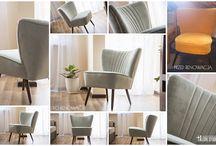 """Meble z """"duszą"""" (po renowacji) 50s 60s chair / Meble, fotele klubowe po renowacji. Mogą stanowić jedyny w swoim rodzaju element wystroju praktycznie każdego wnętrza."""
