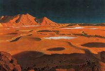 A Light Year in the Bonestell System / Chesley Bonestell / by Pollykrome
