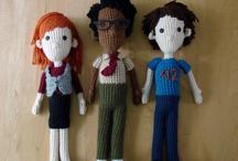 Knitted art dolls