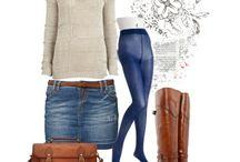 jeans spódnica stylizacje