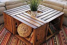 table basse caisse fruits