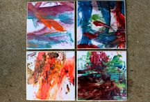 Coasters/tiles / by Kerrie Bryan
