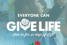 Give Life Challenge / We want to challenge you to take your passion and inspiration home with you and to take part in AT LEAST one pro-life activity every month in 2015!  Just imagine if we march for life every day of the year?!  Take the Give Life Challenge and we will send you one pro-life challenge each month along with the resources you need.  Together, we can build a culture of life across America. / by March for Life Education and Defense Fund