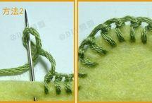 embroidery on felt/вышивка на войлоке