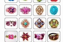 Beads: rings / Rings, beaded, elastic, wire or thread