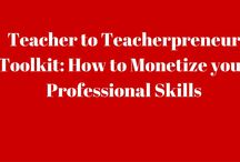 Teacher to Teacherpreneur Toolkit: How to Monetize your Professional Skills / Teachers have many transferrable/professional skills.  Find out how I made the successful transition from teacher to teacherpreneur.  The toolkit can be downloaded from https://patrice-palmer.mykajabi.co,