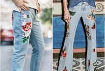 jeans bordado