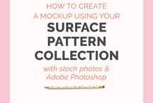 "How to ""Surface Pattern Design"" / Online learning//How to create Digital Downloads //Digital Designs//Online Resources for Learning"