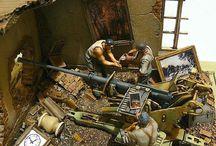mini atur diorama war