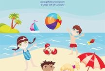 PRESCHOOL - Beach / Preschool homeschool ideas for the Beach theme (Unit 5 - Seasonal), one of 45 themes in the Home CEO Homeschool Preschool Curriculum we're doing.  Includes worksheets, coloring sheets, crafts ideas and other learning ideas.