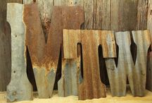 Rustic Upcycled Decor / Using something old and making it new and interesting again.