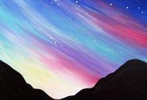 skyline painted rocks