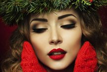 Christmas Party hair and make up ideas