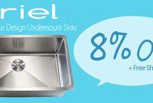 Refresh Your Kitchen / http://www.emoderndecor.com/kitchen-sinks/ariel-undermount-kitchen-sinks.html
