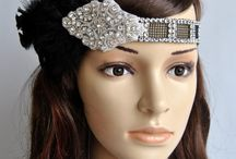 Party flapper headband  / Flapper headband, 1920s headpiece , Great Gatsby headband