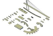 3D Bridges CAD collection / Download this FULL Collection of over 25 3D BRIDGES. The collection includes:  - Arch bridge , through arch bridge , beam bridge , - Box girder bridge , cable stayed bridge , cantilever bridge , - Rigid frame bridge , roving bridge , suspension bridge ,  - Canal bridge and many more!