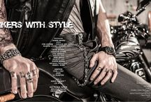 """""""BIKERS WITH STYLE"""" / Editorial Fashion Story for FIRST LUXE MAGAZINE / Photographer: Jacques Beneich / Models: Louis Mazières & Valentin d'Hoore / Stylist: Marie Revelut / Make-Up & Hair: Anne Arnold / Making-Of Video: Juliette Beneich / https://www.youtube.com/watch?v=7WEj4gpjKs8 / Responsable Prod & Décor: Virginia Valère / Assistants: Flora & Nico / Studio: La Plateform / Thanks to:  Harley-Davidson / ATS Etoile / Jean-Charles Geneste / Guillaume Tanner / Véronique Gaillard / Marc /"""