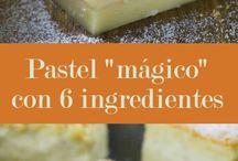 Pastel con 6 Ingredientes
