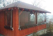 Ferotech închideri terase , wind wall, wind protection for terrace.