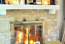 Fireplace decor / Fireplace ideas, mantel and fireplace decor