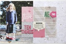Scrapbook Layouts using PL cards