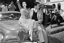 Famous with cars - Vintage photos