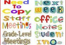 Teacher organization ideas