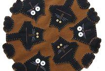 Penny rugs / http://pin.it/fJQCq9E