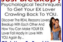 """I Want My Ex Back - Get Back Together Guide / If You Feel Like """"I Want My Ex Back"""" - These  Videos Show You HOW To Get your Ex Back / by Tom Daniels"""