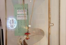 Finished Projects: Jewellery Store / Jessica De Lotz Jewellery Store- Kentish Town- mix of high end unique designs with vintage. Brass elements, playful touches and glass display cases. #commercialdesign #uniqueshopslondon