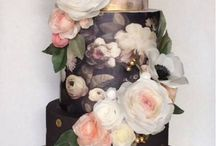 Fondant cake, flowers, and other things