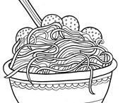 Food Coloring Pages / by Doodle Art Alley